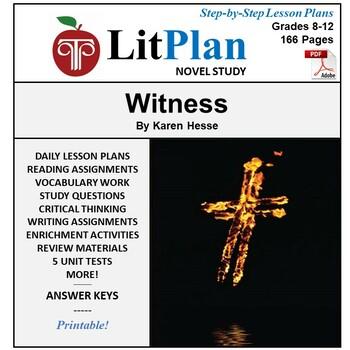 LitPlan Teacher Guide: Witness (Hesse) - Lesson Plans, Questions, Tests