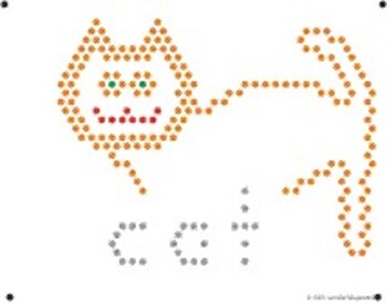picture relating to Lite Brite Free Printable Patterns named Lite Brite Refill Web page: C - Cat