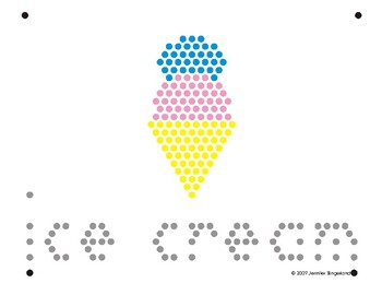 image relating to Lite Brite Free Printable Patterns referred to as Lite Brite Refill Website page: I - Ice Product