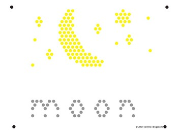 picture relating to Lite Brite Free Printable Patterns titled Lite Brite Refill Webpage: M - Moon