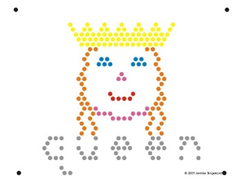 photograph regarding Lite Brite Free Printable Patterns titled Lite Brite Refill Site: Q - Queen