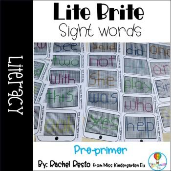 Lite Brite Sight Words- Pre Primer