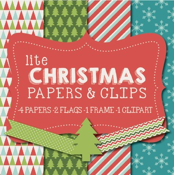 Lite Christmas Papers & Clipart