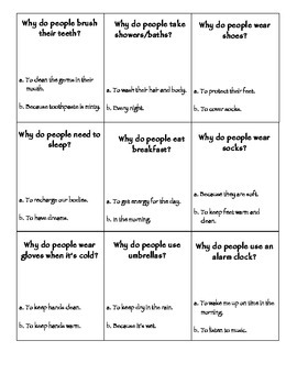 Lite Sample Version of WHY Question Multiple Choice Cards