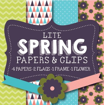 Lite Spring Papers & Clipart