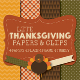 Lite Thanksgiving Papers & Clipart