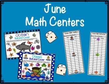 Literacy & Math Centers: June--Ocean & Beach