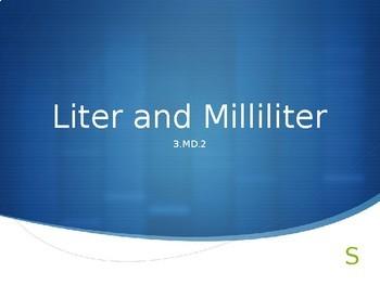 Liter and Milliliter Practice