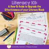 How to Teach Literacy, the Effective Way- Professional Development