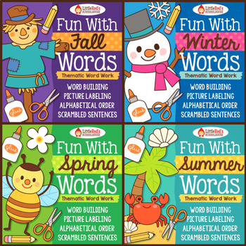 Word Work Bundle - Four Seasons