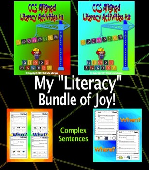 Literacy Activities – CCS Aligned – Sentence Fixer Uppers –  # 1 & 2 BUNDLE