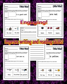 Literacy Activities – CCS Aligned – Sentence Fixer Uppers – Packet # 1