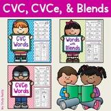 Literacy Activities: CVC, CVCe & Words with Blends Bundle