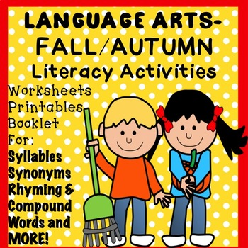 FALL, AUTUMN No Prep Literacy Activities Worksheets Printables