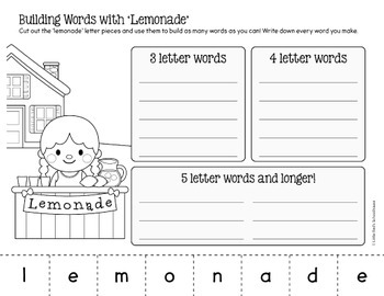 Summer Word Work