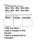 Literacy Activities Letter/Sound S,D,M Sort