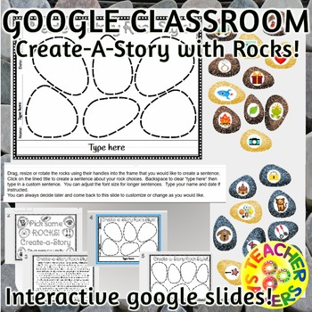 Literacy Activities Story Starters DIGITAL INTERACTIVE GOOGLE SLIDES