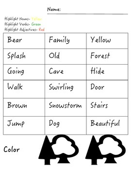 "Literacy Printables ""We're Going on a Bear Hunt"""