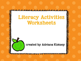 Literacy Activities Worksheets