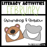 February Literacy Centers Groundhog Day