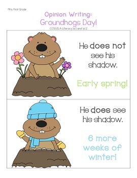 Literacy Activities for Groundhog's Day