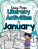 Literacy Activities for January (Easy Prep)