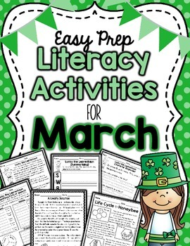 Literacy Activities for March (Easy Prep)