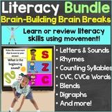 Literacy Activities with Brain Breaks Bundle Digital Googl