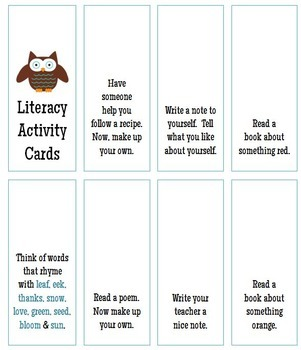 Literacy Activity Cards