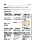Literacy Activity Choice Board Based on Grade 2's Wonders
