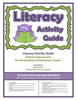 Literacy Activity Guide (PreK-Grade1)