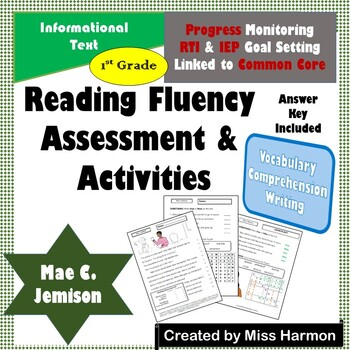 Literacy Activity Sheets for 1st Grade, Mae C. Jemison by ...