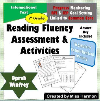 Literacy Activity Sheets for 1st Grade, Oprah Winfrey