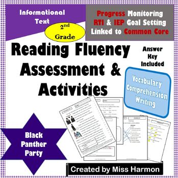 Literacy Activity Sheets for 2nd Grade, Black Panther Party