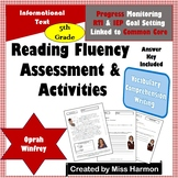 Literacy Activity Sheets for 5th Grade, Oprah Winfrey