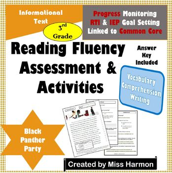 Literacy Activity Sheets for 3rd Grade, Black Panther Party