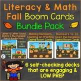 Literacy (Alphabet) Math (Numbers to 20) Boom Cards Bundle