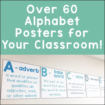Literacy Alphabet Posters {For Upper Elementary and Middle School ELA}