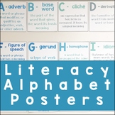 Literacy Alphabet Posters | For Upper Elementary and Middle School ELA