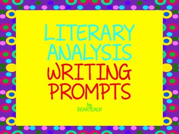Literacy Analysis Prompts
