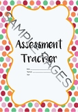 Literacy Assessment Tracker - Australian Curriculum - Back