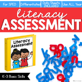 Literacy Assessment for K-3 Basic Skills (for Special Education)