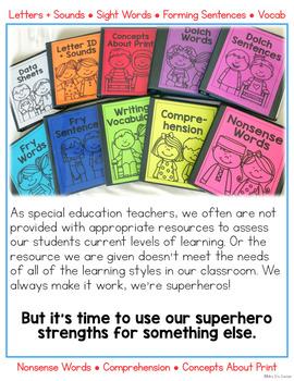 Literacy Assessment for K-3 Basic Skills (for Special Education)