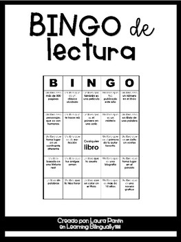 Literacy BINGO in Spanish