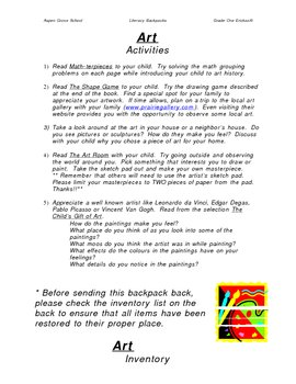 Literacy Backpack - ART