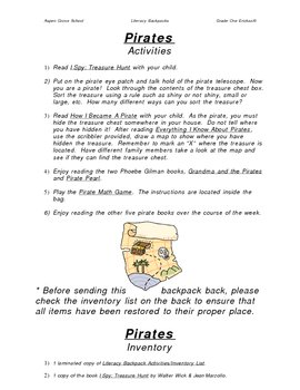 Literacy Backpack - PIRATES