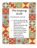 Literacy Bag for The Keeping Quilt
