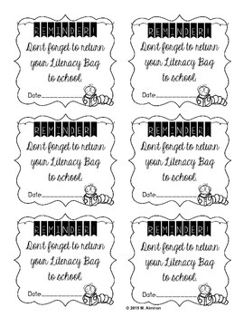 All You Need to Start a Literacy at Home Program - Editable