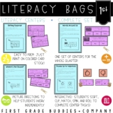 1st Grade Literacy Bags  : A Bundle of 40 Reading Centers