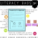 Literacy Bags for 1st Grade: Language Skills {10 Literacy Centers}
